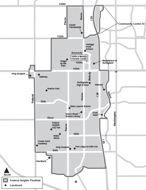Federal Heights FlexRide Map
