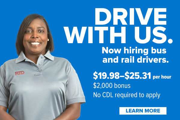 Drive with us. Now hiring bus and rail drivers